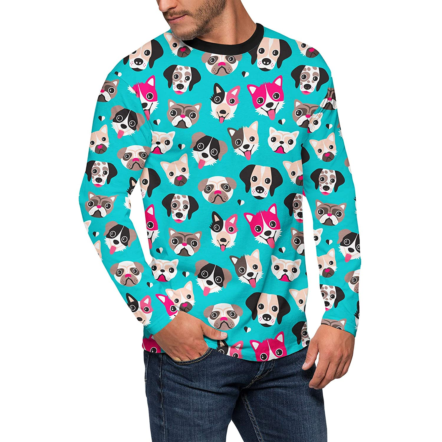 Queen of Cases Puppy Party Mens Longsleeve Tee