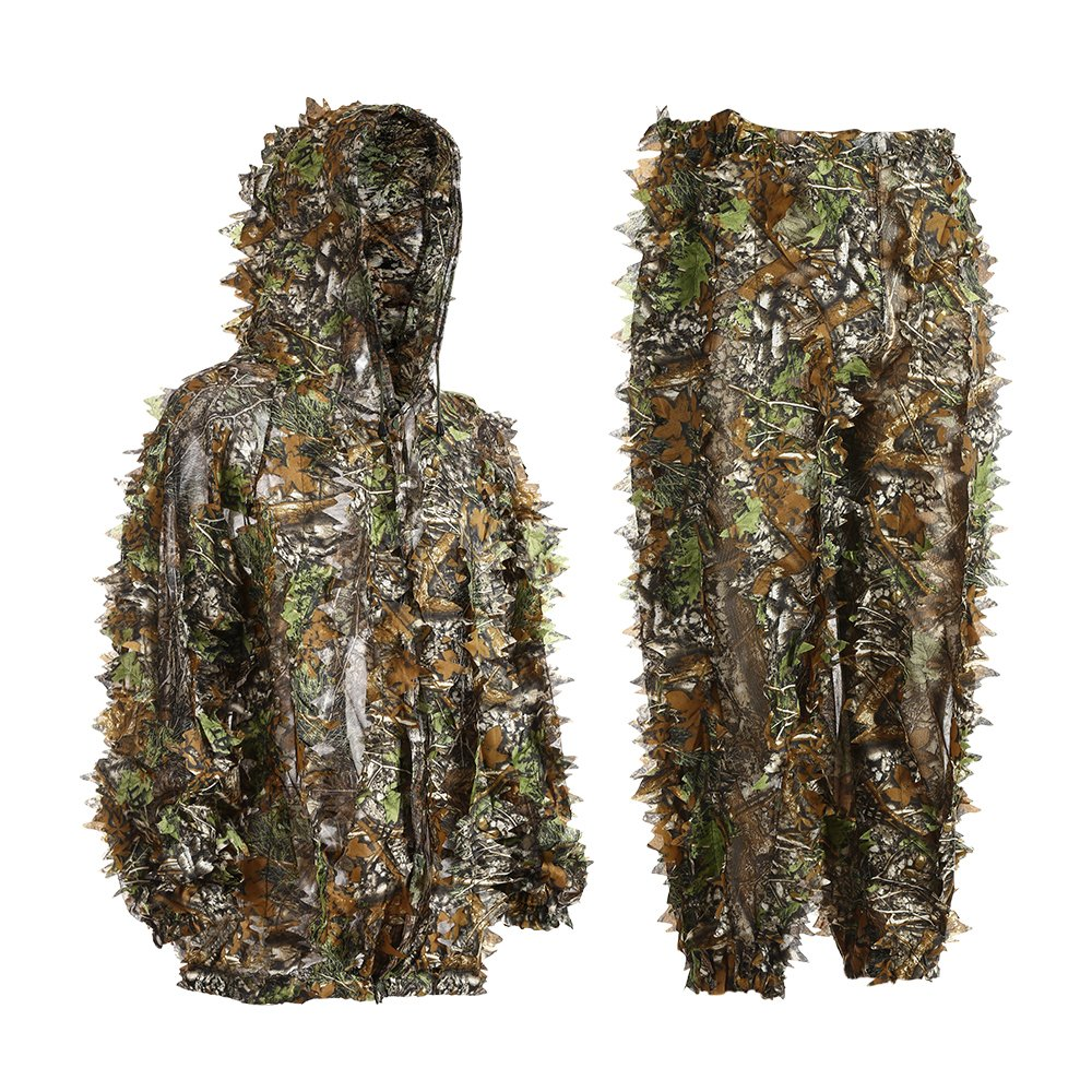 Eamber Ghillie Suit 3D Leaf Realtree Camo Camouflage Lightweight Clothing Suits for Jungle Hunting,Shooting, Airsoft, Wildlife Photography or Halloween by Eamber