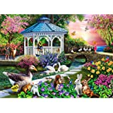 HJAA DIY 5D Diamond Painting Kits for Adults Birds Full Drill Embroidery Paintings Rhinestone Pasted Flowers DIY…