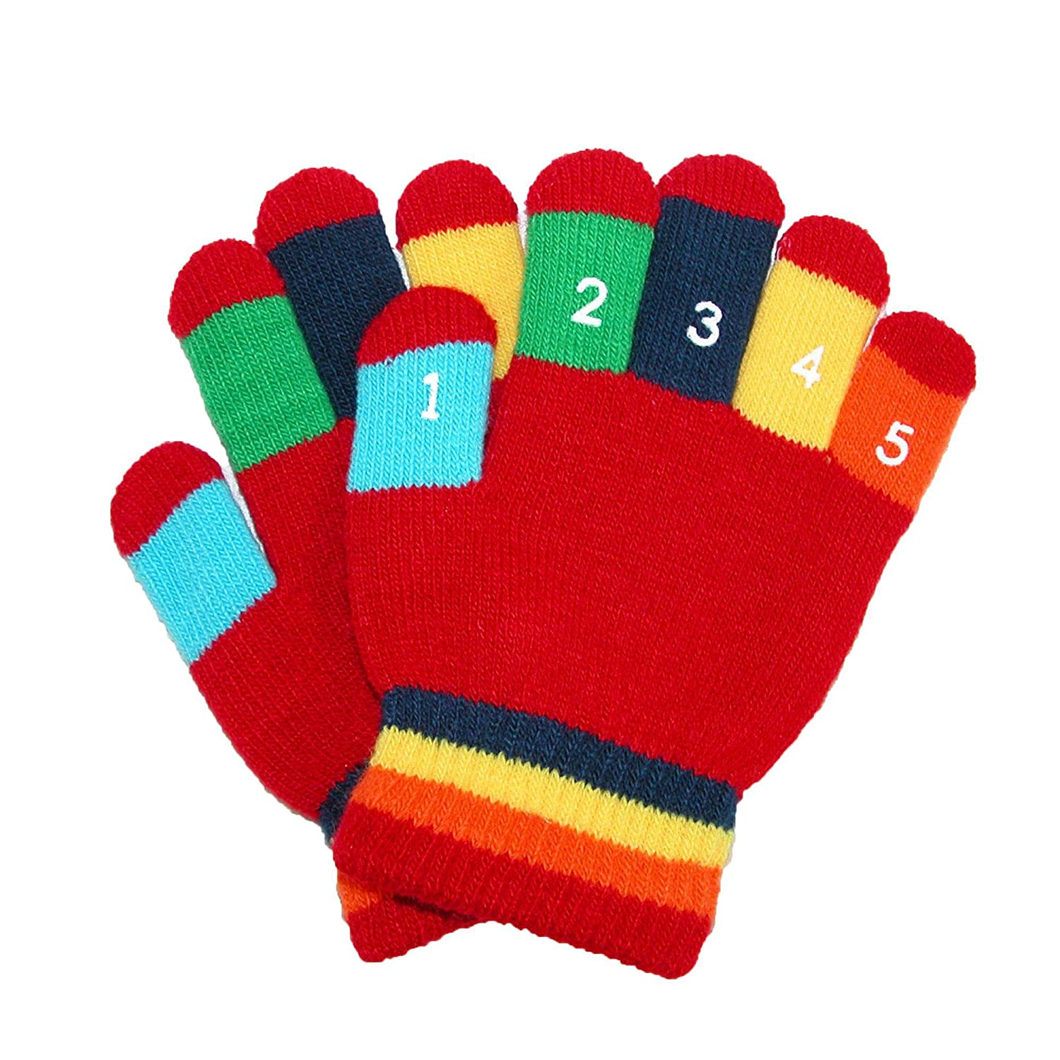 Grand Sierra Toddler 2-4T Knit Stretch Counting Gloves Black