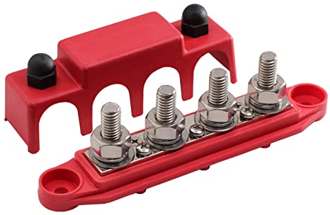 Automotive Power Distribution Block >> Fastronix 3 8 4 Stud Power Distribution Block With Cover