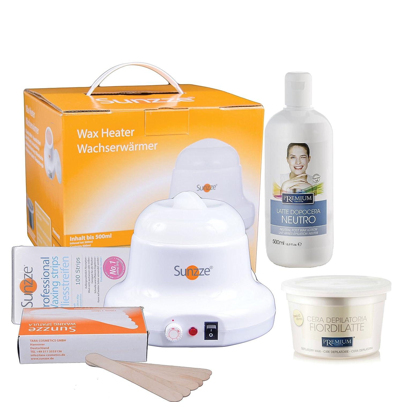 Práctico waxingkit para la depilación en la cara, patas, Íntima y ...