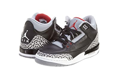 new style 6cdaa 5bdb3 Nike Air Jordan 3 Retro GS Black Cement Grey Youth Basketball Shoes  398614-010