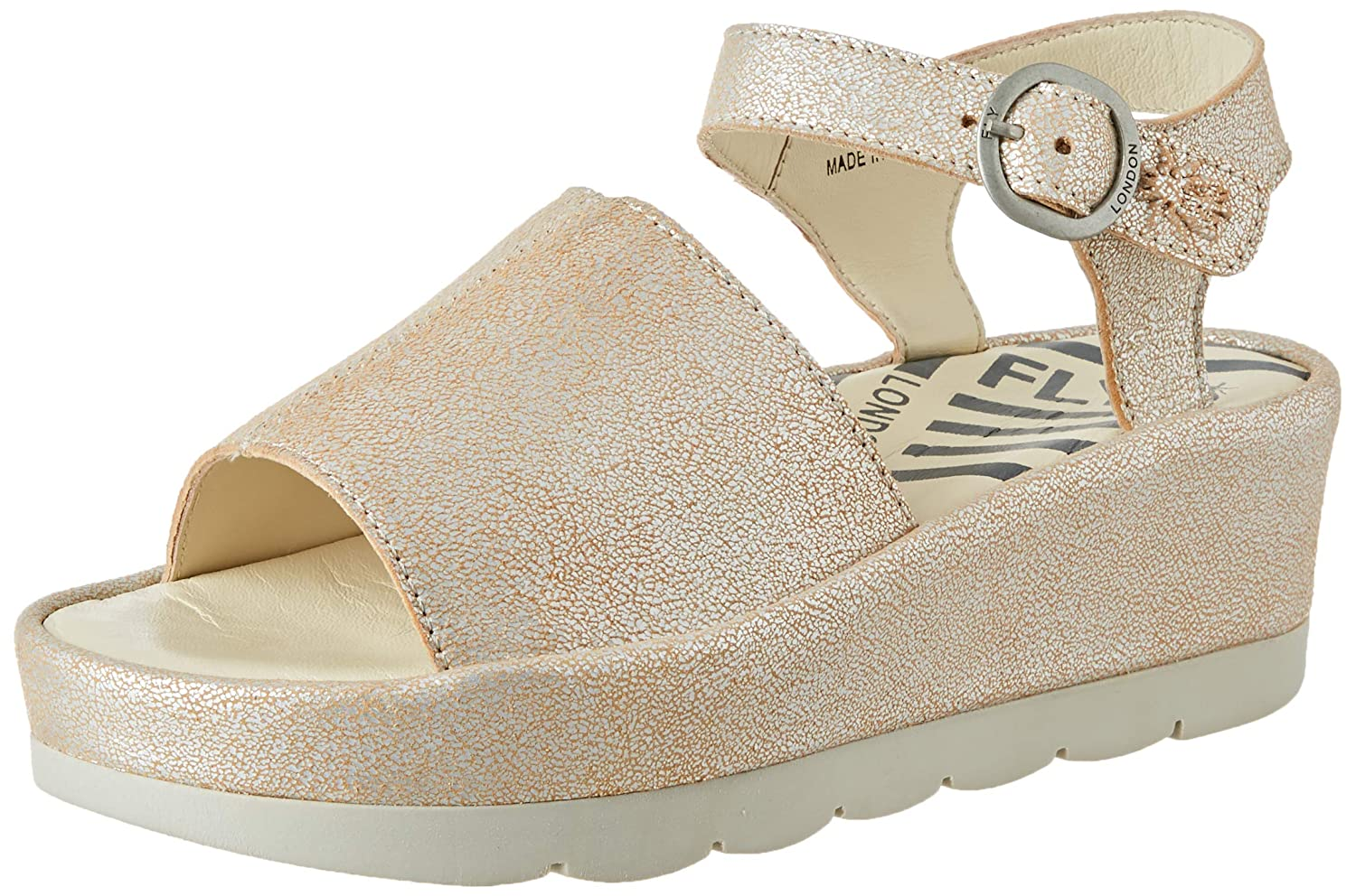 006) (Pearl Silber Fly London Sandalen Bano971fly Damen