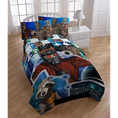 Marvel Guardians of the Galaxy Microfiber Comforter- Twin: Home & Kitchen