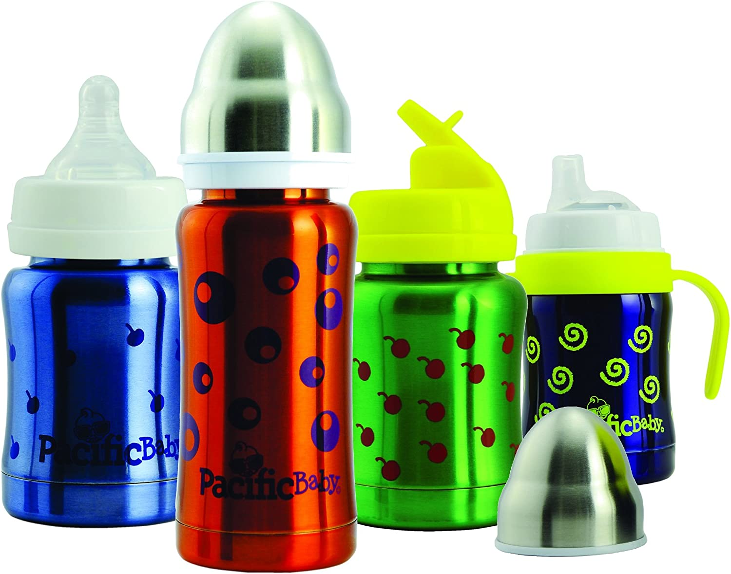 Bubbles Pacific Baby 7ounce 3-in-One Thermal Baby Bottle