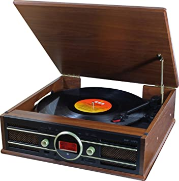 Soundmaster PL585BR Marrón tocadisco: Amazon.es: Electrónica