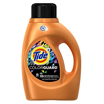 Tide Plus Colorguard, HE Turbo Clean, Liquid Laundry Detergent, 46 Fl Oz,
