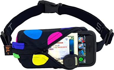 No-Bounce Waist Bag for Runners Athletes Men and Women fits iPhone and Android Phones SPIbelt Running Belt Original Pocket Multi, One Size