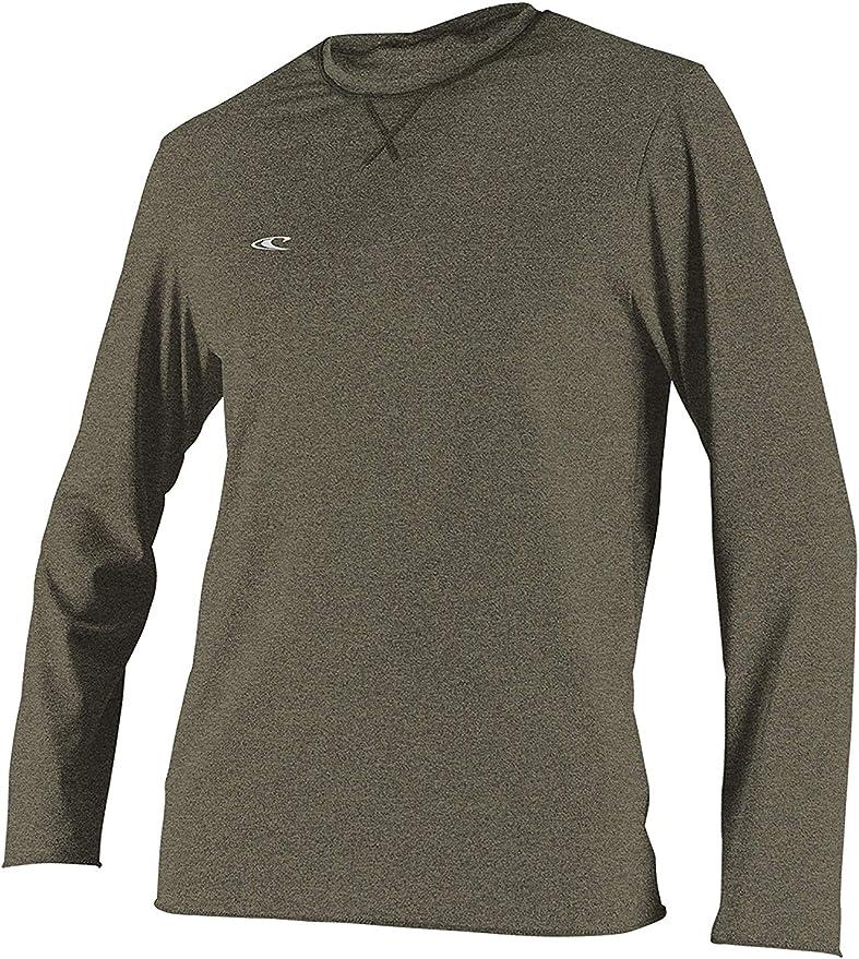 ONeill Camiseta de Surf de Manga Larga híbrida para Hombre Camiseta Caqui - Protección Solar UV y propiedades SPF: Amazon.es: Deportes y aire libre