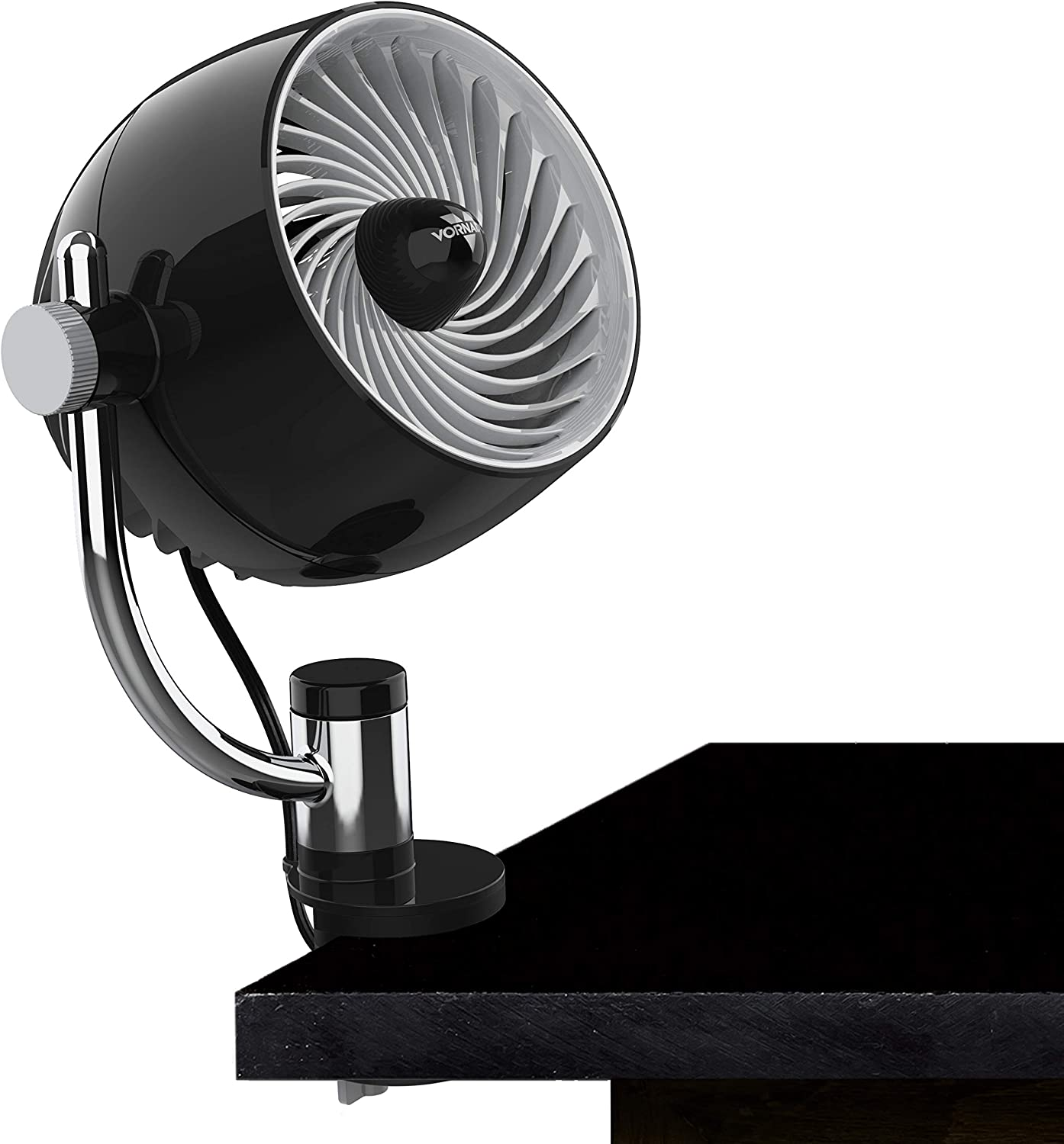 Vornado Pivot3C Compact Air Circulator Clip On Fan with Multi-Surface Mount, Black