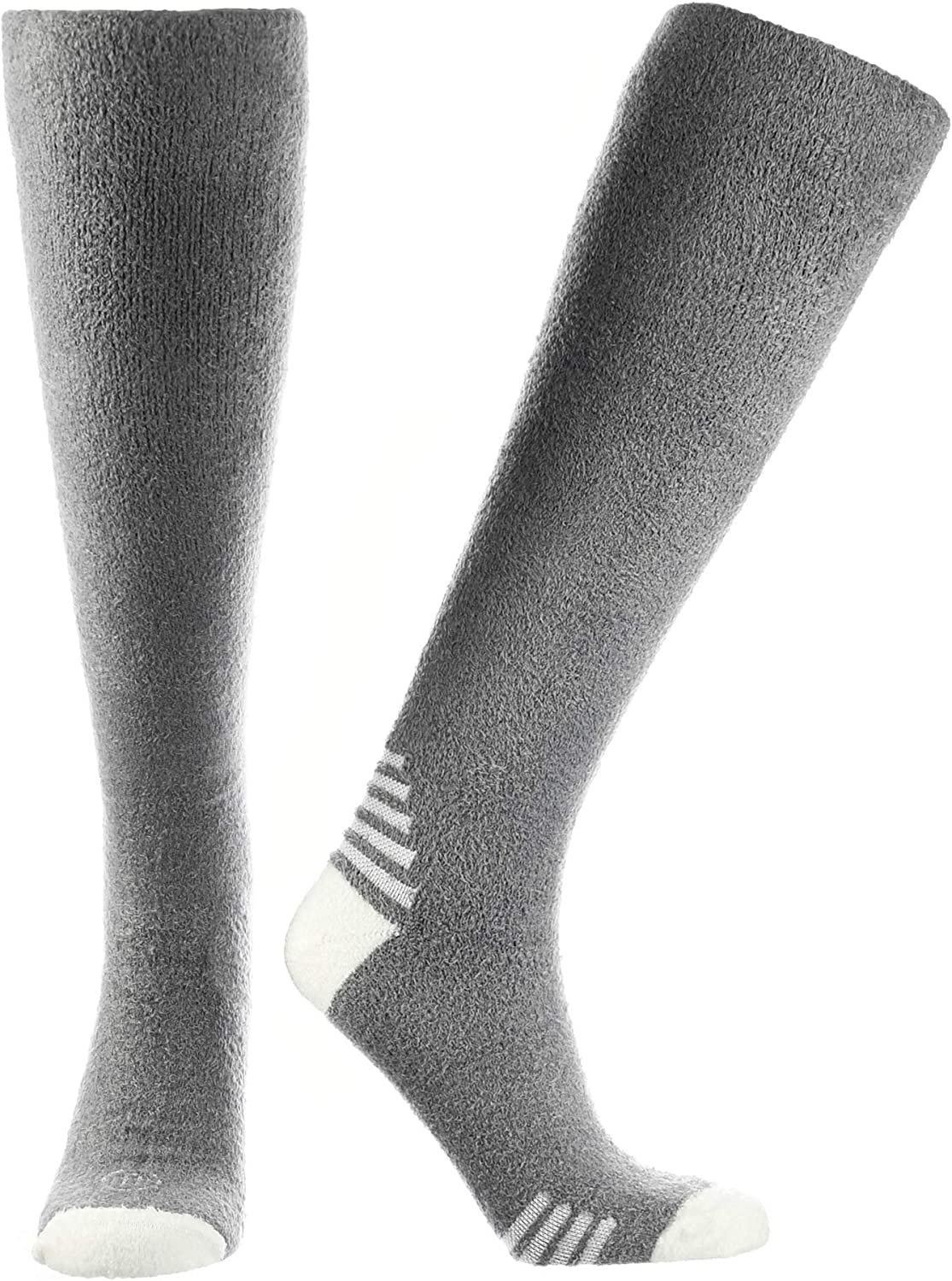 Doctor's Choice Men's Sleeping Socks, Light Cozy Compression Sock, 8-15 mmHg, with Soft, Warm, Fuzzy Features at  Men's Clothing store