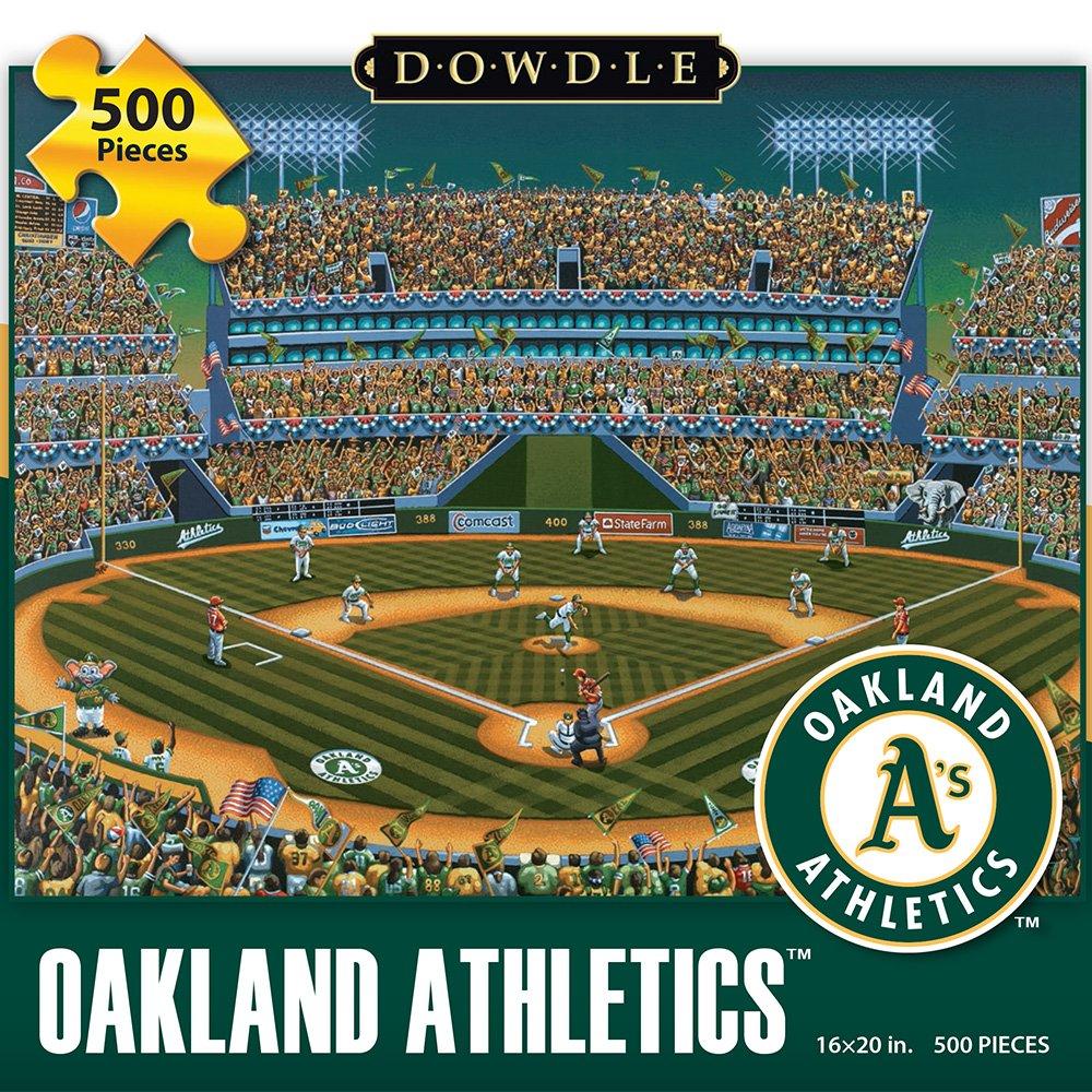 Jigsaw Puzzle  Oakland Athletics 500 Pc by Dowdle Folk Art