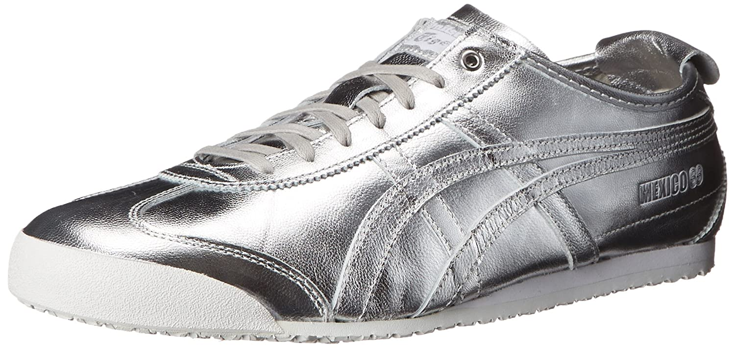 Onitsuka Tiger Mexico 66 Fashion Sneaker B00PV06828 10 M US Women / 8.5 M US Men|Silver/Silver