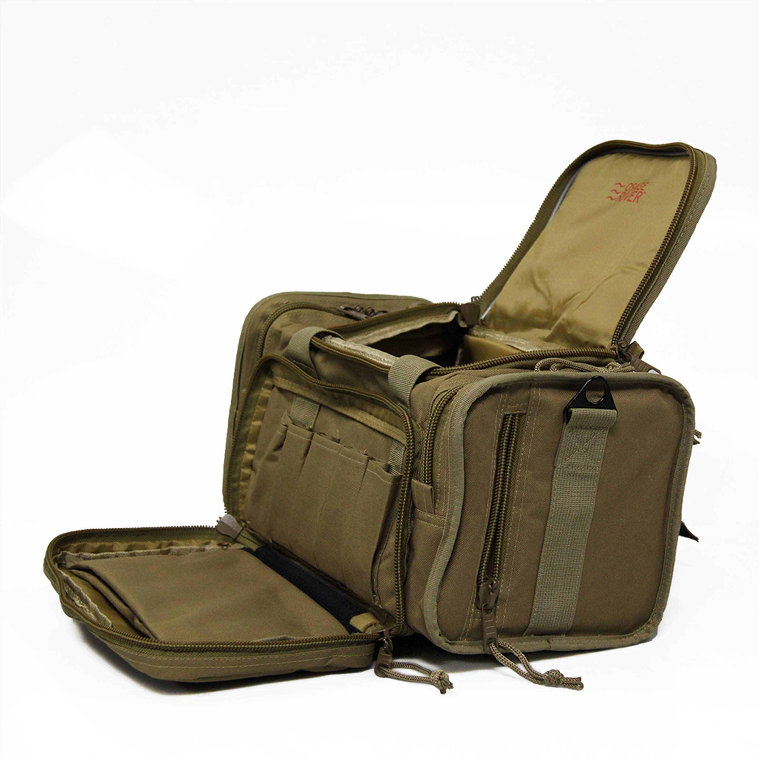 Osage River Tactical Shooting Gun Range Bag, Coyote Tan , Light Duty (13.5 x 10.5 x 7.5) Inches