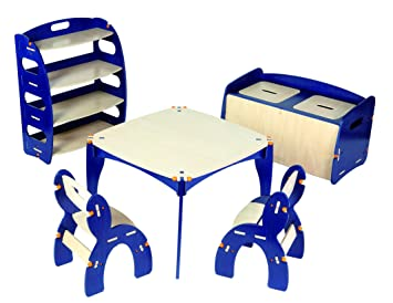 Admirable Amazon Com Buildex Freedom Storage Bench Majestic Blue Baby Inzonedesignstudio Interior Chair Design Inzonedesignstudiocom