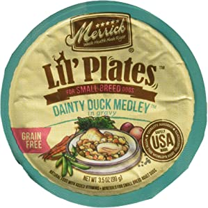 Merrick Lil's Plates 3.5-Oz Grain Free Wet Food for Small Breed Dogs 12 Cans - Dainty Duck Medley in Gravy