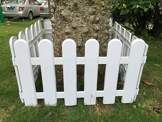 hineway Nursery cenefa para pared valla de jardín Valla PVC blanco Vallas 10pcs/set 19, 7 X 11.4inches – Tornillo: Amazon.es: Jardín