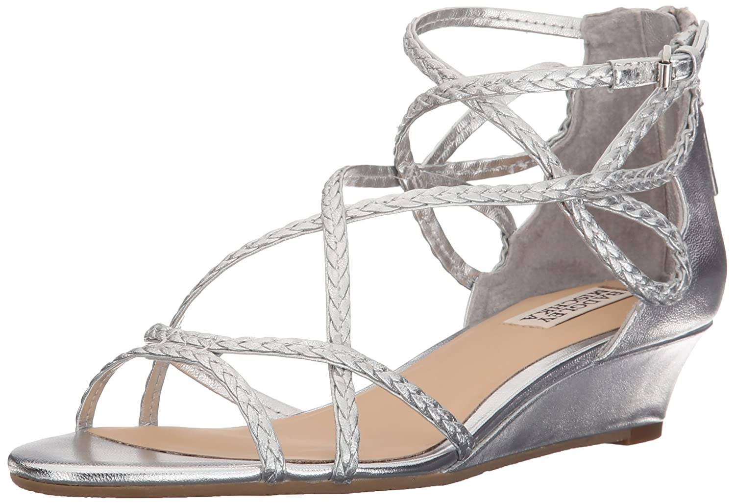 Amazon Badgley Mischka Women s Corrine Wedge Sandal Shoes