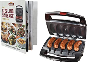 Johnsonville BTG0498BUN Sizzling Sausage Specialty Grill & Cookbook, Black/Stainless