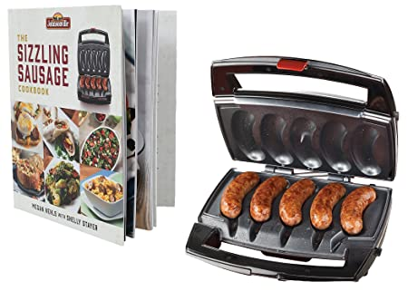Johnsonville BTG0498BUN Sizzling Sausage Specialty Grill Cookbook, Black Stainless