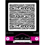 Cookie stencil background woodgrain cupcake designs for air brush - Royal icing