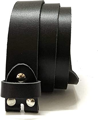 Vintage Replacement Leather Belt Strap with Snap on Buckle Width 1.45 Inch JASGOOD Mens Leather Belt Strap Without Buckle