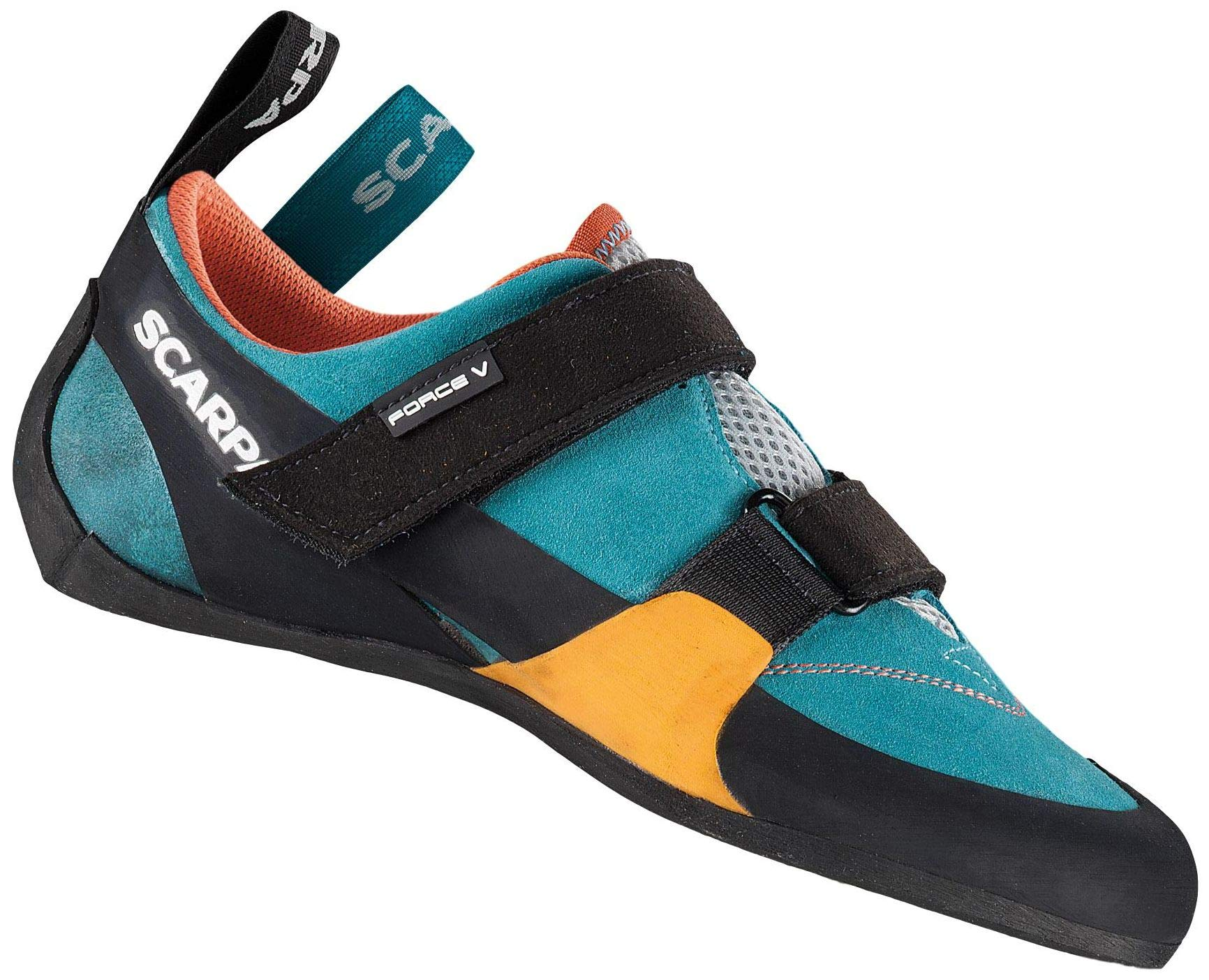 SCARPA Force V Climbing Shoe - Women's Ice Fall/Mandarin Red 42 by SCARPA
