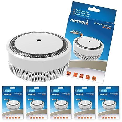 Nemaxx M1 Mini - Detector de humo – sensibles, color blanco