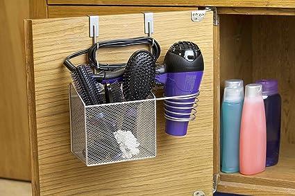 Over The Cabinet Hairdryer Holder U0026 Organizer