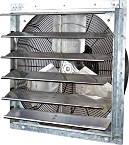 "iLiving - 24"" Wall Mounted Exhaust Fan - Automatic Shutter - Variable Speed - Vent Fan For Home Attic, Shed, or Garage Ventilation, 4244 CFM, 6200 SQF Coverage Area"