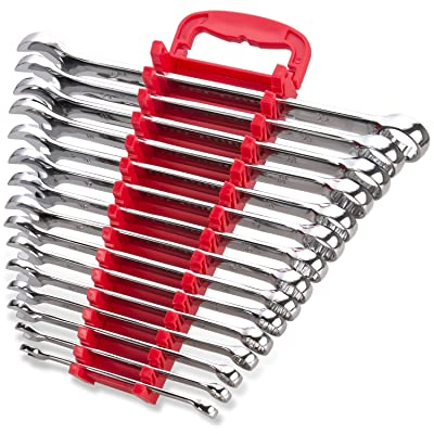 Max Torque 15-Piece Premium Combination Wrench Set, Chrome Vanadium Steel, Long Pattern Design   Include Metric Sizes 8, 9, 10, 11, 12, 13, 14, 15, 16, 17, 18, 19, 20, 21, 22mm with Storage Rack