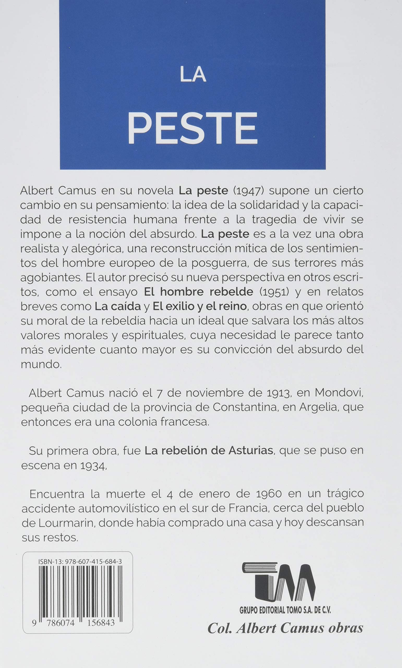 Amazon.com: La Peste: The Plague (English and Spanish Edition) (9786074156843): Albert Camus: Books