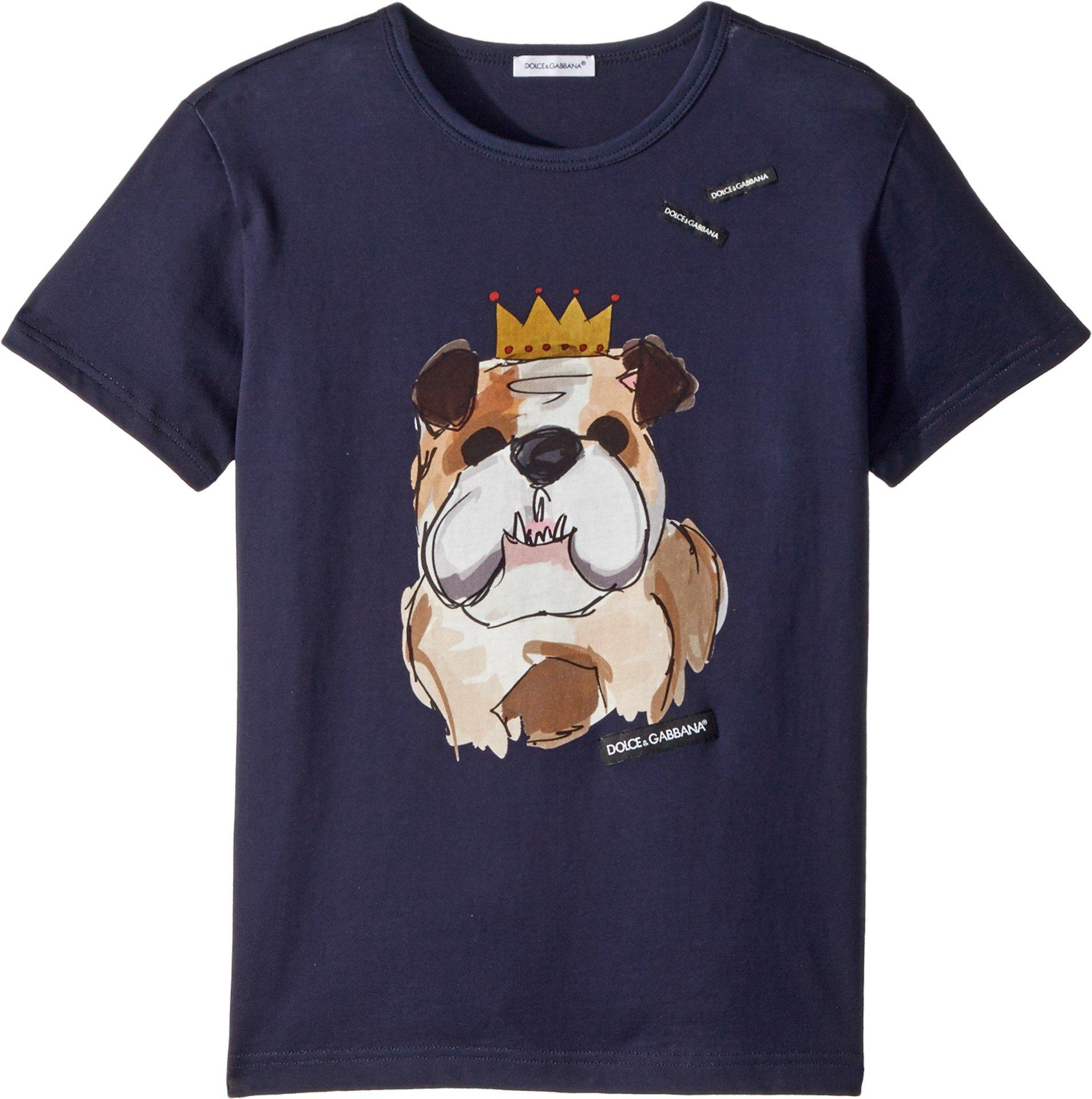 Dolce & Gabbana Kids Boy's T-Shirt (Big Kids) Blue Print 8