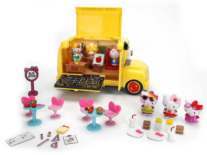 Amazon.com: Jada Toys Hello Kitty Deluxe School camión ...