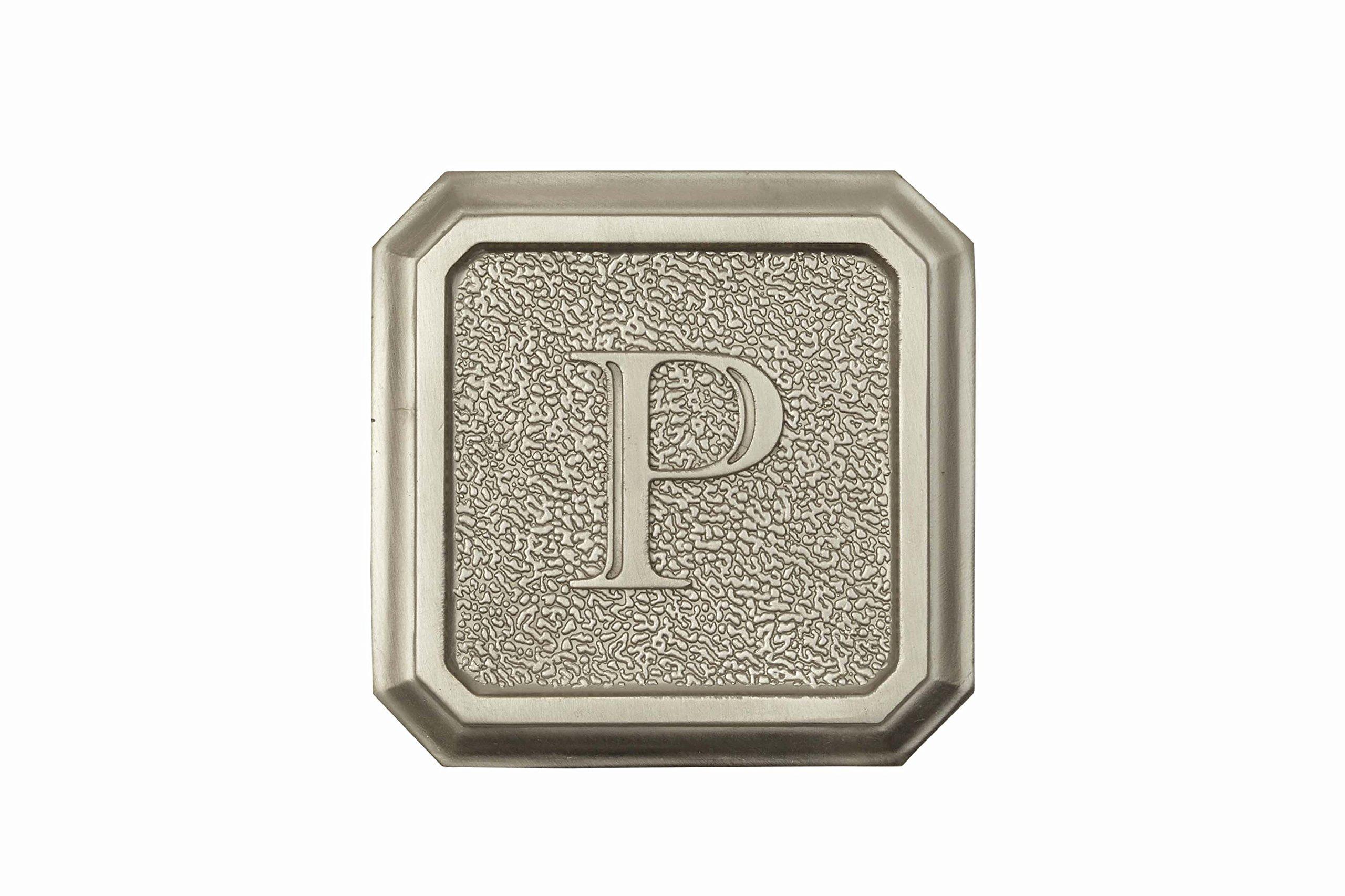 Architectural Mailboxes 3650SN-P Aluminum Satin Nickel Monogram - Letter''P''