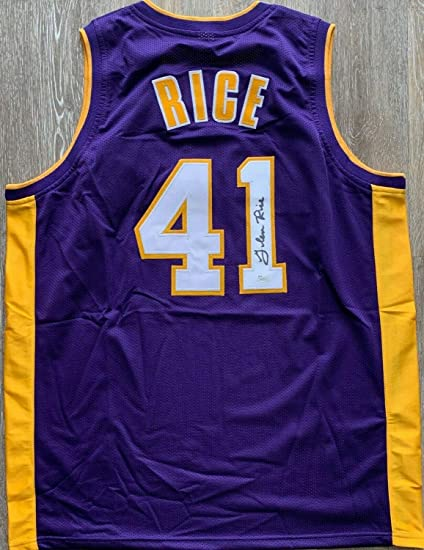 65b572ad7 Glen Rice Autographed Signed Memorabilia Jersey Nba Los Angeles Lakers  PSA DNA W Coa G-Money at Amazon s Sports Collectibles Store