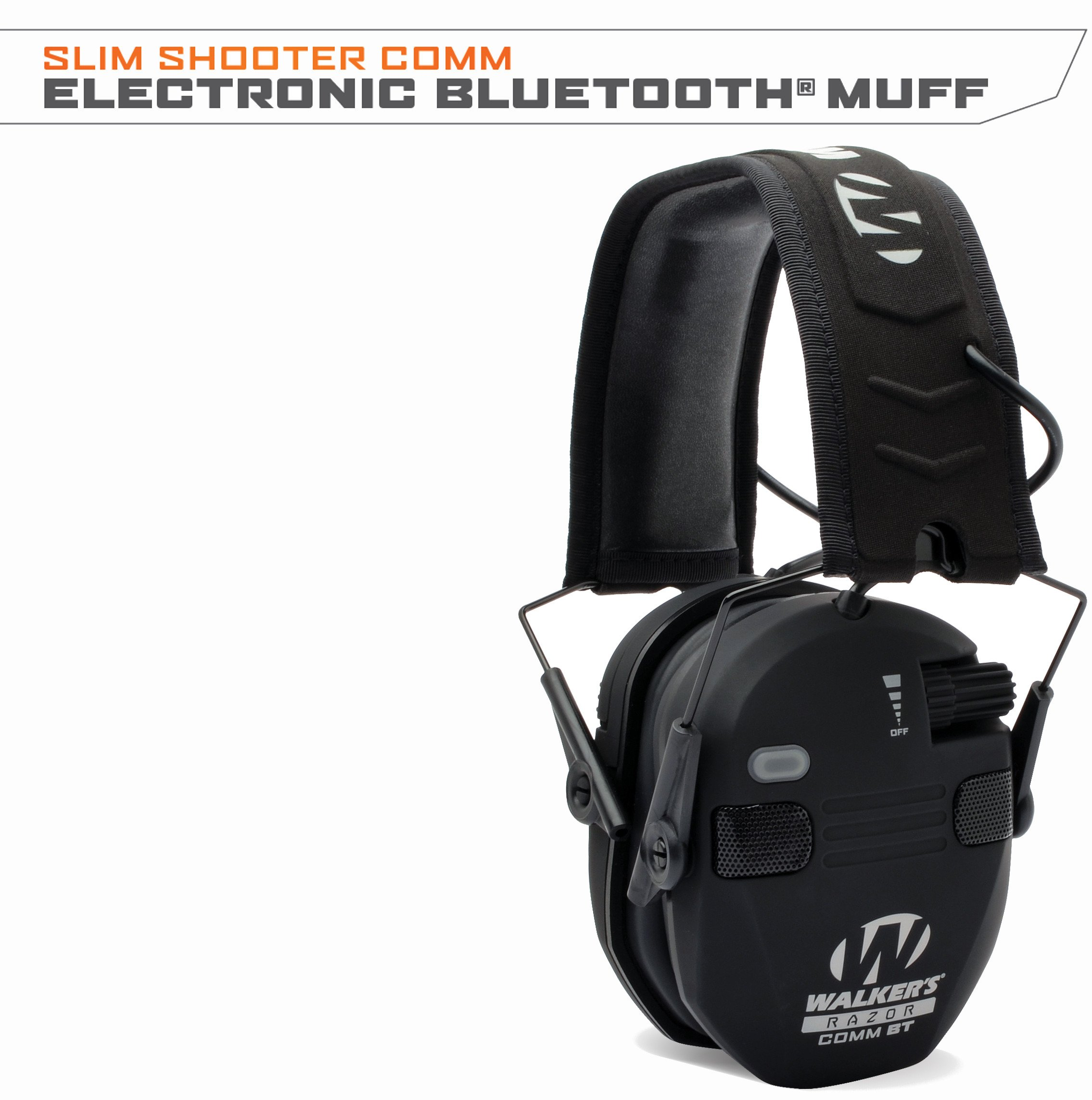 Walker's Razor Quad Electronic Bluetooth Muff-Black by Walker's Game Ear