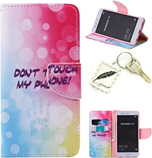 Etui Coque PU Slim Bumper pour Huawei P9 Souple Housse de Protection Flexible Soft Case Cas Couverture Anti Choc Mince Légère Silicone Cover Bouchon -photo Frame Keychain #AE (1) WTJYXGS