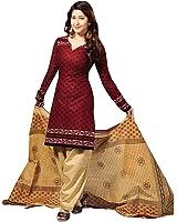 Vaamsi Women's  Salwar Suit Dress Material(Cocp6_Maroon_Free Size)