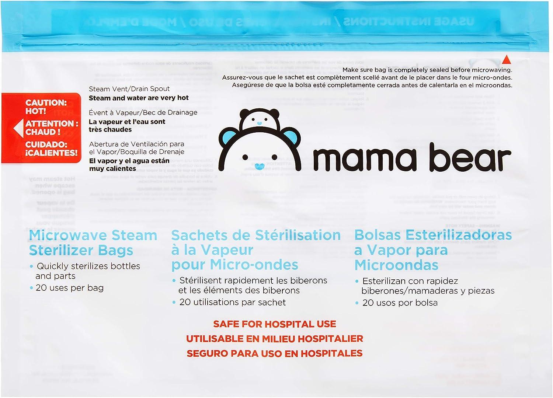 Amazon Brand - Mama Bear Sterilizer Bags, 10-count