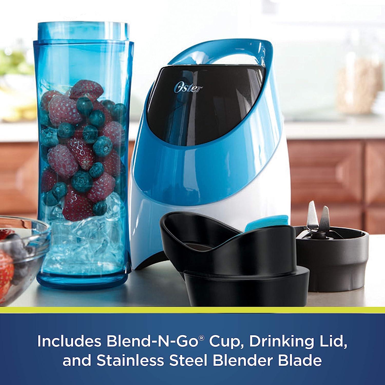 Light Powder Blue Oster BLSTPB-WBL My Blend 250-Watt Blender with Travel Sport Bottle