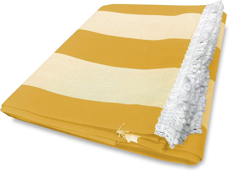Rayas Anchas Amarillas Toldo de Exterior para jard/ín balc/ón
