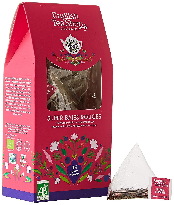 English Tea Shop Organic Super Berries Loose Leaf - 15 Loose Leaf Tea, 30g