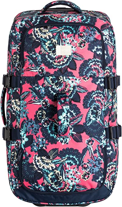 Roxy Women's In The Clouds Luggage, Rouge Red Stripe_3, 85
