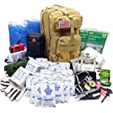 EVERLIT Complete 72 Hours for 2 People Earthquake Bug out Bag Emergency Kit for Earthquake, Hurricanes, Floods, Tsunami, Other Disasters, Include Food Water, Gear, Hand-crank Charger and More