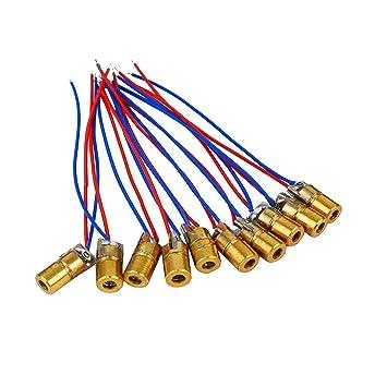 Copper Head Mini Laser diodes Adjustable Lasers Dot Diode Module 650nm 6mm 3//5V