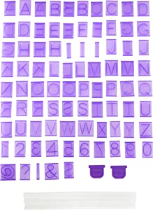 Wilton Cake Letter and Number Press Set, 88-Piece