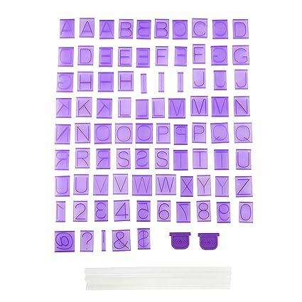 amazon com wilton cake letter and number press set 88 piece
