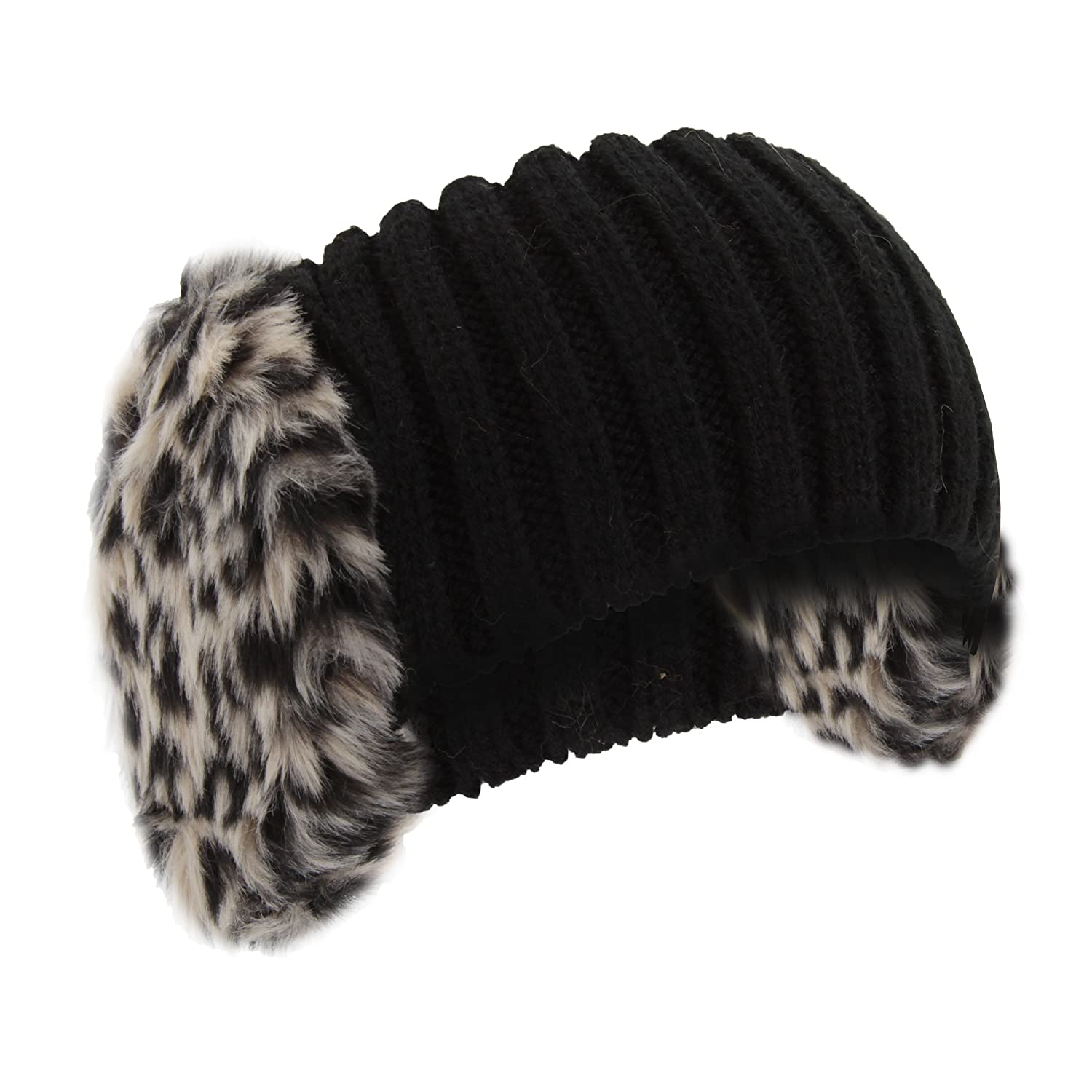 Universal Textiles Womens/Ladies Knitted Faux Fur Winter Headband With Earmuffs UTHA289_2